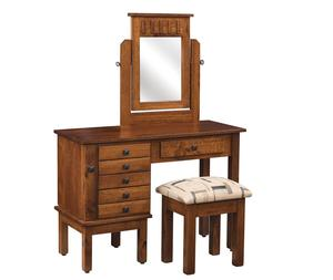 Amish Lynchburg Mission Jewelry Dressing Table with Mirror