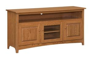 "Amish 66"" Shaker TV Stand with 6"" Opening"