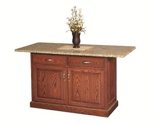 Amish Traditional Deluxe Kitchen Island