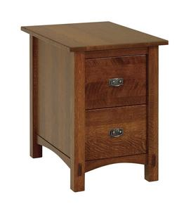 Amish Lucern Mission Two Drawer File Cabinet