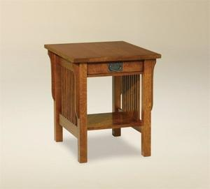 Amish Lancaster Mission End Table with Drawer