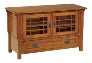 """Amish Made 49"""" Lancaster Mission Television Stand with Drawer"""