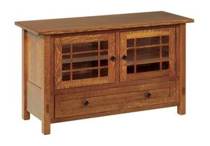 """Amish 49"""" Lucern Mission TV Stand with Drawer and Two Doors"""