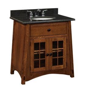 "Amish 33"" McCoy Mission Single Bathroom Vanity Cabinet"