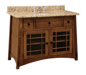"""Amish 49"""" Hatfield Mission Single Bathroom Vanity Cabinet"""