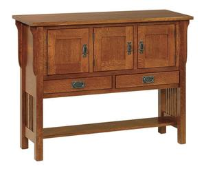 Amish Lancaster Mission Sideboard with Three Doors