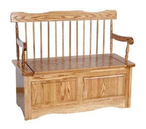Amish Straight Back Storage Bench