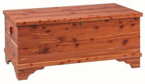 Amish Medium Flat Top Cedar Hope Chest