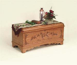 Amish Ridgemont Oak Wood Monroe Hope Chest
