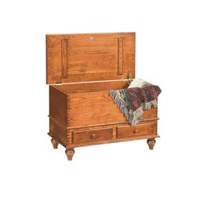 Amish Beaumont Cherry Deep Storage Hope Chest with Tulip Feet