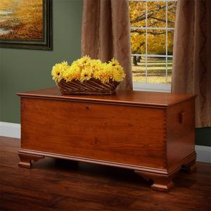 Amish Cherry Wood Large Reproduction Hope Chest