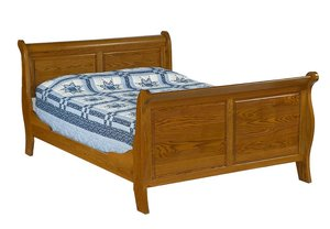 Amish Raised Panel Sleigh Bed