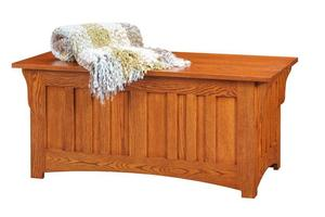 Amish Hartford Oak Wood Mission Hope Chest