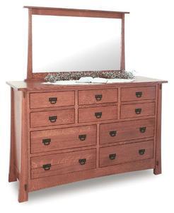 Amish Rockefeller Mission Dresser with Ten Drawers