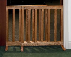 Amish Made Adjustable Hardwood Dog Gate