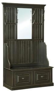 Amish Pine Hall Bench with Mirror