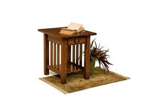 Amish Classic Mission End Table with Drawer
