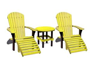 Amish Sports Team Poly Patio Furniture Set