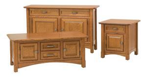 Amish Salzburg Cabinet Shaker Sofa Table