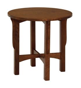 "Amish Lancaster 26"" Round End Table"