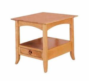 Amish Geneva Open End Table