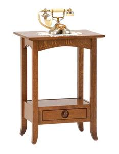 Amish Geneva Open Phone Stand End Table