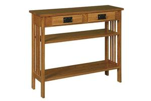 """Amish 36"""" Arts and Crafts Hall Table"""