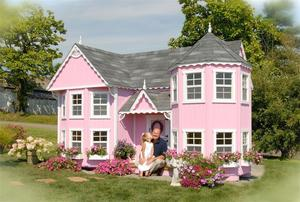 Amish Handcrafted Sara's Victorian Mansion Playhouse