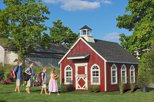 Amish Handcrafted Stratford Schoolhouse Playhouse DIY Kit