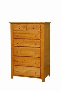 Amish Shaker Tall Chest of Drawers