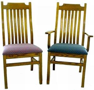 Amish Mission Oak Kitchen Chair