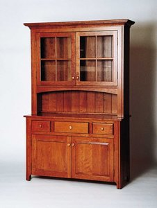 "Amish 52"" Galloway Shaker Hutch"