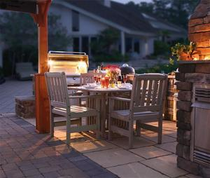 Amish Poly Patio Furniture Dining Set