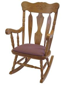 Amish Solid Wood Daisy Rocking Chair