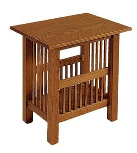 American Mission Book Rack End Table