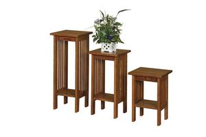 Amish Arts and Crafts Mission Plant Stand Choose From Three Sizes