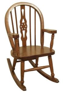 Amish Fiddleback Windsor Kids' Solid Wood Chair