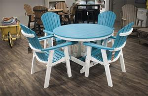 Berlin Gardens Five Piece Patio Furniture Poly Dining Set