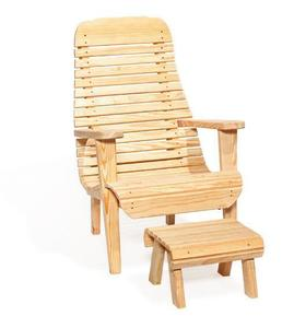 Amish Leisure Lawns Pine Wood Easy Lawn Chair