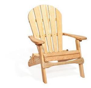 Amish Pine Wood Folding Patio Adirondack Chair