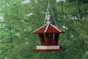 Amish Hanging Gazebo Garden Bird Feeder