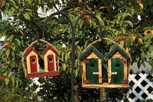Amish Small His-and-Hers Outhouse Bird House