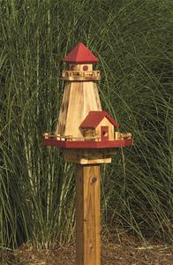 Amish Lighthouse Bird House and Feeder