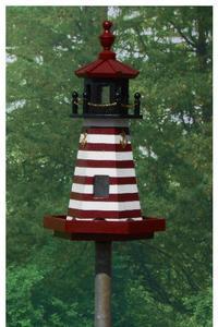 Amish 2' West Quoddy Lighthouse Bird Feeder