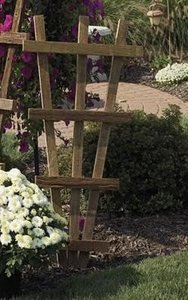 Amish Wooden Small Rustic Garden Trellis