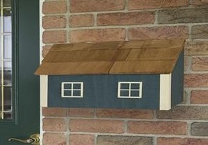 Amish Painted Wall Mount Mailbox