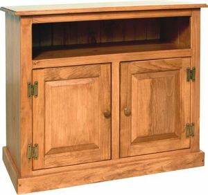"""Amish Pine Wood Small TV Stand for TVs up to 36"""""""