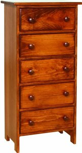 Amish Pine Five Drawer Chest