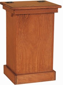 Amish Pine Wood Lift Top Trash Bin Cabinet Quick Ship