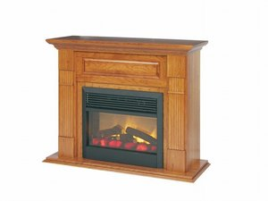 Amish Fluted Mantel Electric Fireplace